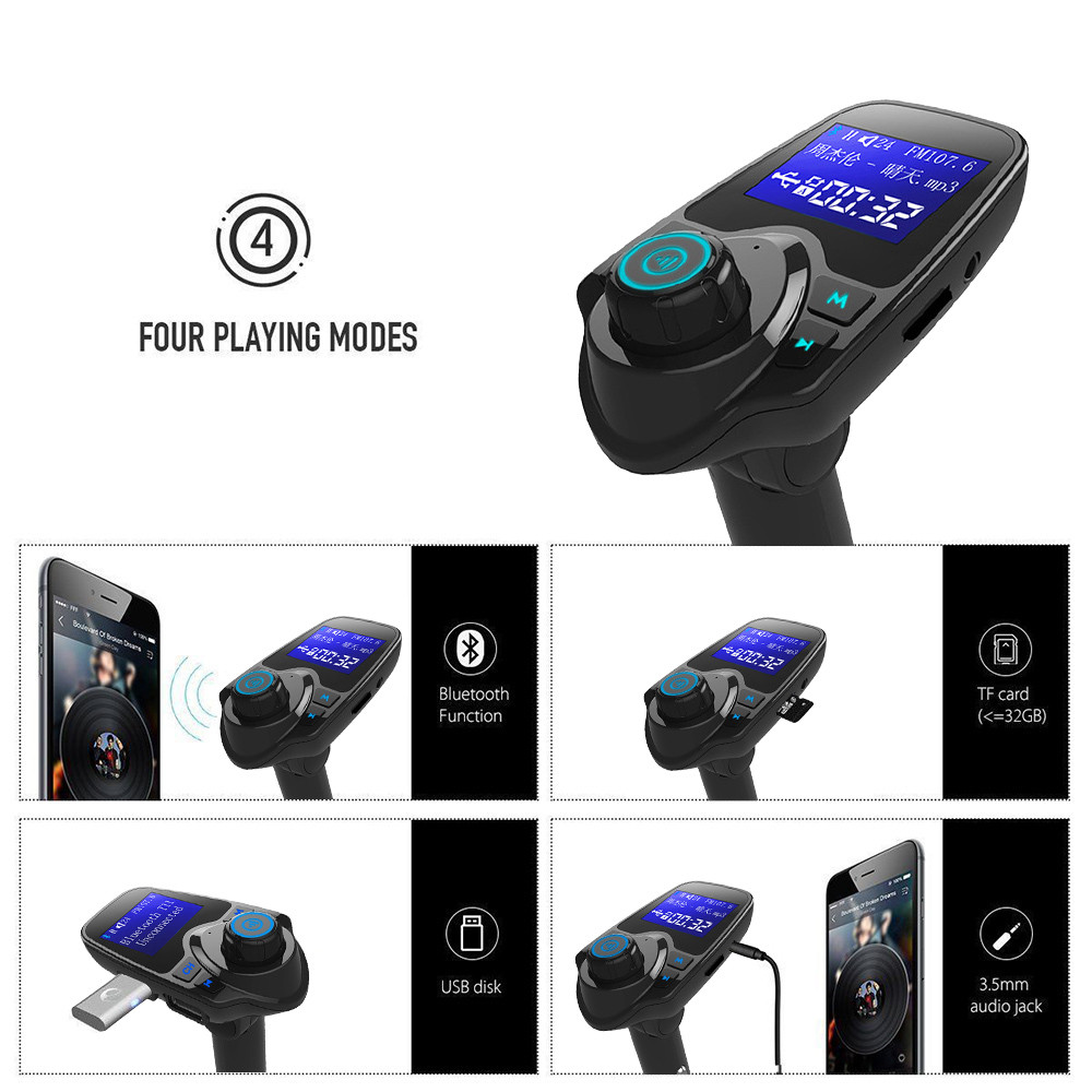 Image 5 - Car Mp3 Player Auto Hands Free Wireless Car AUX Audio Receiver FM Adapter USB Charger 1.44 Inches LargeScreen Dual USB port-in FM Transmitters from Automobiles & Motorcycles