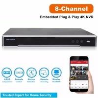 Original Hikvision 4K NVR 8CH DS 7608NI I2/8P for CCTV Camera System 2SATA 8 POE ports 8ch NVR Plug & Play NVR POE 8ch H.265