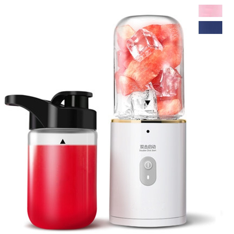 все цены на HIMOSKWA 350ML USB Rechargeable Portable Fruit Juicer 5V For Travel Mini Soybean Milk Machine Ice Crusher Food Processor онлайн