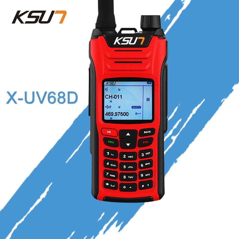 Ksun X-UV68D (макс.) портативная рация 8 Вт высокой мощности Двухдиапазонный портативный двухстороннее Любительское Радио Communicator КВ трансивер любительской удобный