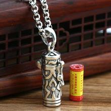 Thai 925 Silver Tibetan Gau Box Pendant vintage sterling silver Buddhist Prayer Box Amulet Pendant Tibetan Ghau Pendant