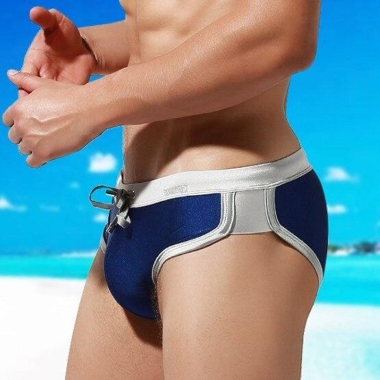Sexy Pouch Padded Swimsuit Men Swimwear Gay Mens Swim Briefs Push Up Pad Swimming Trunk Male Bathing Suit Beach Sport Wear Short