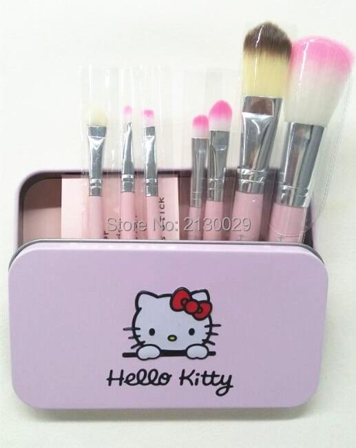 a5ceba298 1set=7pcs brush. (loose paint brushes eye shadow brush eyebrow eyeliner brush  sets). packag:iron box