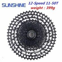 """SUNSHINE kaseta 12 prędkości 11 pojemnik zasilany toczenia urządzenia """"nieznany żagiew"""" o bardzo dużej wytrzymałości dane techniczne: pojemność około 50T 12s wolnego koła MTB  kompatybilny SHIMANO SRAM"""