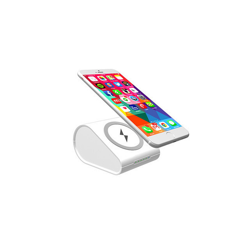 New Type of Qi Standard Wireless Charger Power Bank 10000mAh Universal External Poverbank for iphone X