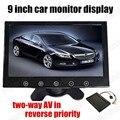 9 Polegada Display LCD TFT a cores para câmera Traseira Monitor Do Carro DVD Com 2 Entrada de Vídeo reverter prioridade frete grátis