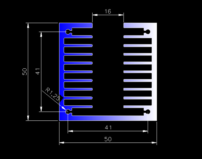 Fast Free Ship side face air-cooled aluminum radiator 50*50*100mm electronic components new aluminum fin type radiator aluminum 1pcs free shipping ssr soild state relay radiator radiator fin other spare parts mini
