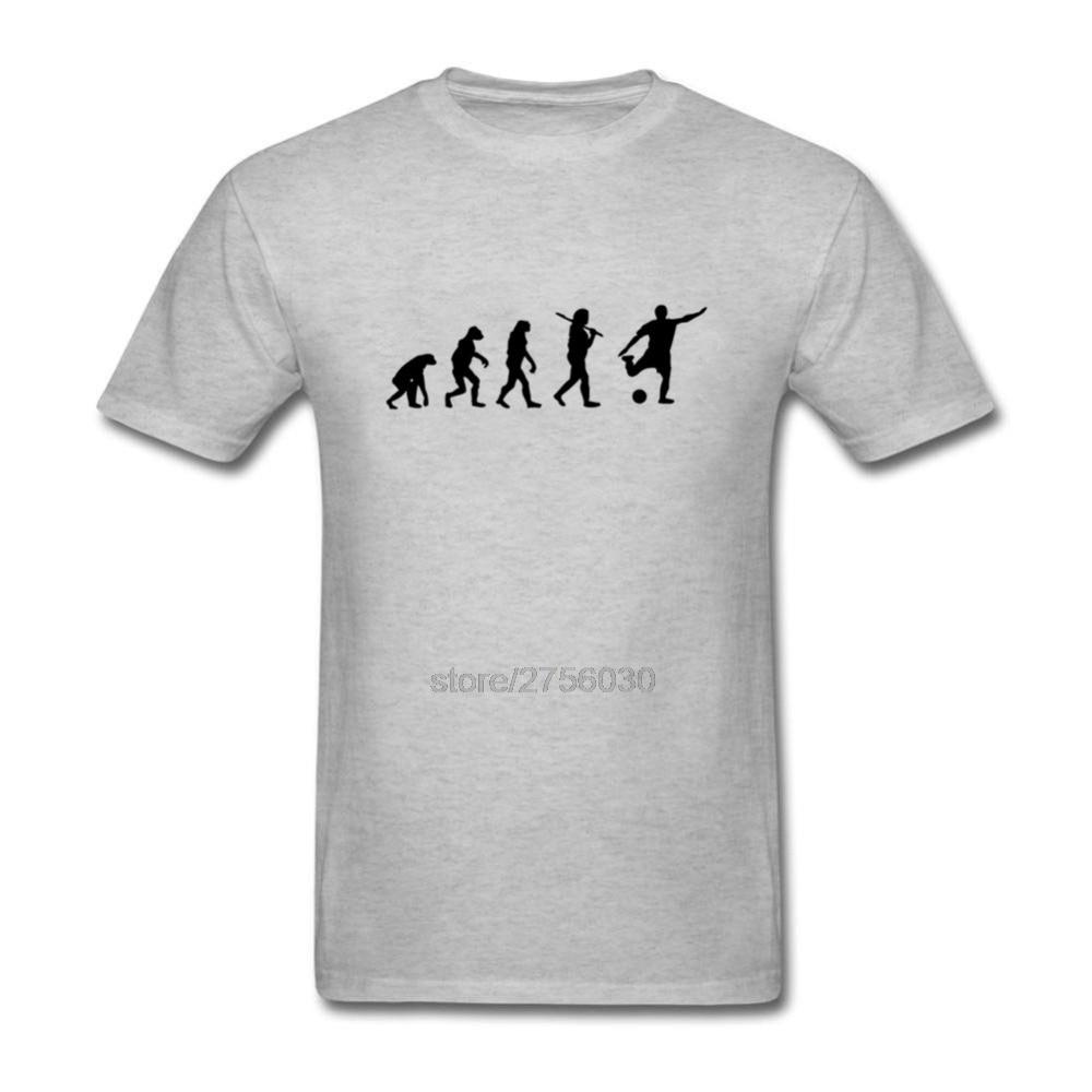 evolution of footballer homme t shirt design tops t shirt cool novelty funny tshirt style - Football T Shirt Design Ideas