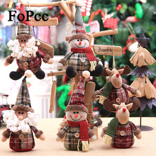 2018 cute christmas doll children snowflake plaid christmas tree ornaments hanging christmas decorations for home new - Plaid Christmas Decor