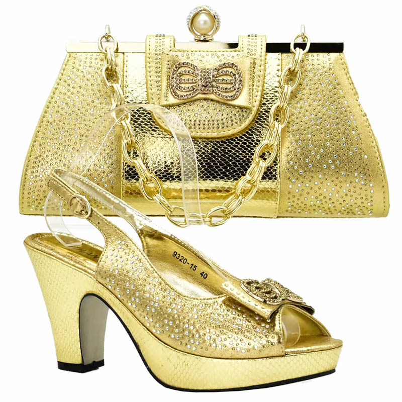 Latest Gold Color Matching Shoes and Bag Set African Shoes and Matching Bags Italian Nigerian Women Wedding Shoes and Bag Set loz pirates of the caribbean jack salazar mini blocks brick heads figure toy assemblage toys offical authorized distributer