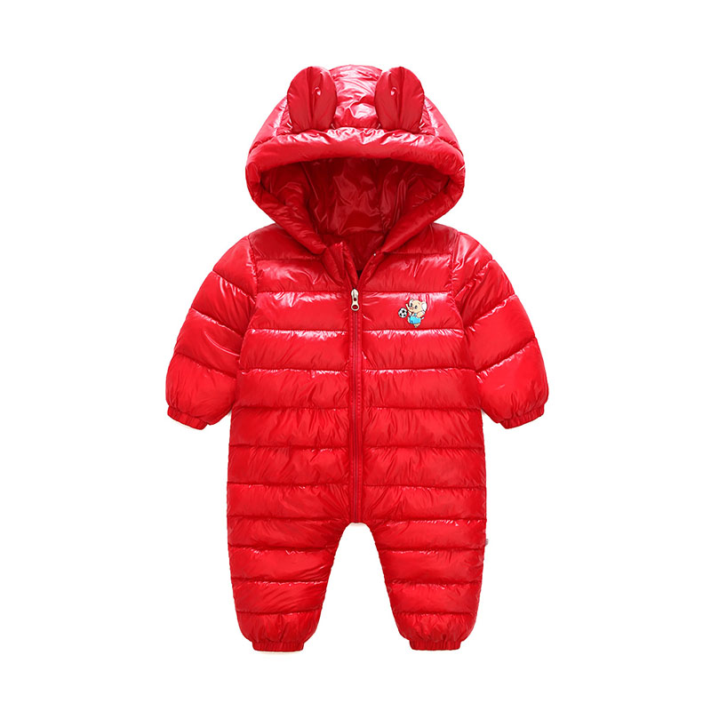Baby Zipper  Rompers Winter Thicking Warm Baby Boy Clothing Long Sleeve Hooded Cartoon Jumpsuit Kids Newborn Outwear  4 Color newborn baby boy winter rompers long sleeve cotton clothing toddler baby clothes romper warm cartoon jumpsuit baby boys pajamas