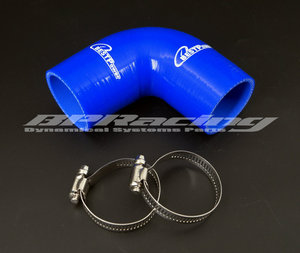 """Image 1 - 57mm/60mm/63mm Unversal 90 Degree Elbow Silicone hose/2.24"""" inch/2.36""""/2.5"""" inch Heater Coolant Vehicle Applications + clamp"""