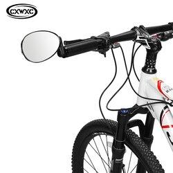 Rowerowe lusterko wsteczne wypukłe szkło rowerowe lusterko na kierownicę góra rowerowa lustro Bar kończy tylne lustro do akcesoriów rowerowych w Lusterka rowerowe od Sport i rozrywka na