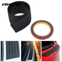 Car Styling Door Sill Guard Car Body Rear Bumper Protector Trim Cover Protective Strip Black For