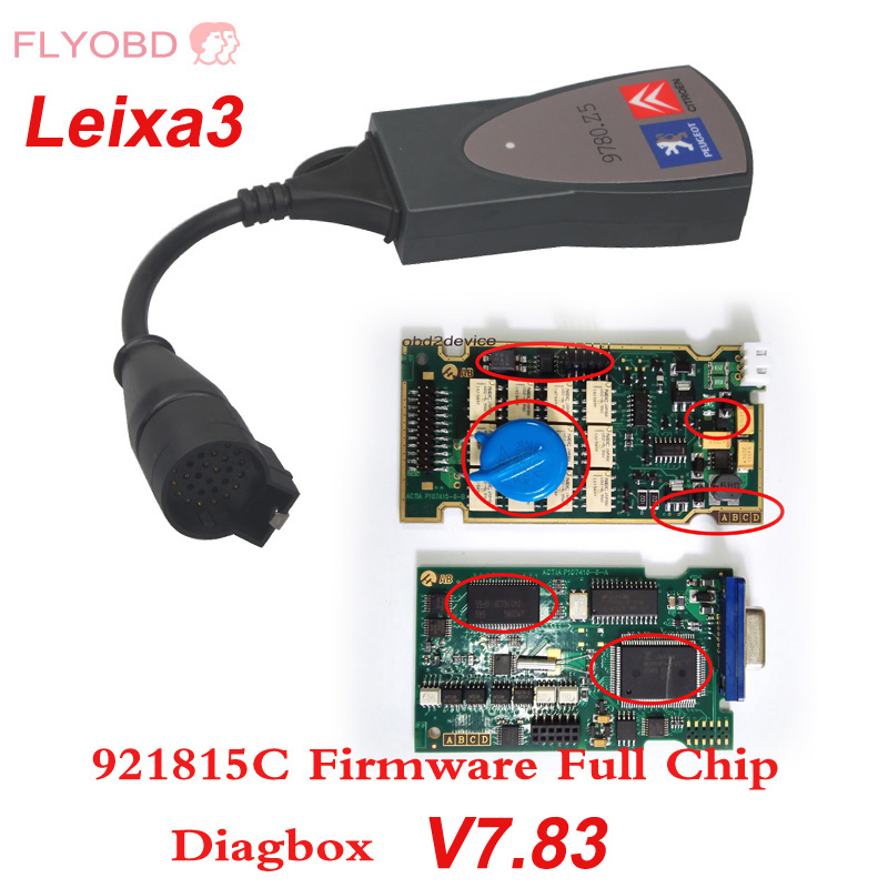 Цена за 2017 Лучшее Качество Lexia 3 PP2000 Полный Чип с 921815C прошивки V7.83 Lexia 3 V48 PP2000 V25 Diagbox Диагностики Авто инструмент