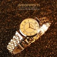 WEGARSTI Top Luxury Brand Women S Watch Quartz Watch For Woman Wristwatch Lady Gold Watch Clock