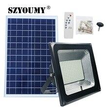 Szyoumy新着ledソーラーリモート洪水光100ワットled投光器防水緊急ストリートガーデン照明ip66