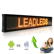 ios Mobile phone Wifi Remote Programmable Advertising LED Display Board for Car bus truck shop Busines
