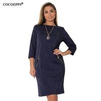 COCOEPPS 2018 Winter Christmas Dresses Fashion Casual Sequin Office Feamle Dress 5XL 6XL Plus Size Women