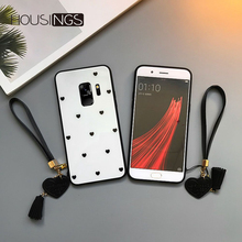 Strap Love Tempered Glass Case For Samsung Galaxy S8 S9 plus Heart S10 Lite S10 e Hand Rope Note 8 9 Lovely Fashion Bumper Cover гель лак lovely s10
