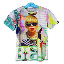 Super Star 3D Printed T-shirts Cool Beyonce Sunglasses Graph