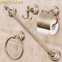 Free shipping,solid brass Bathroom Accessories Set,Robe hook,Paper Holder,Towel Bar,Soap basket,bathroom sets,YT 11500 A