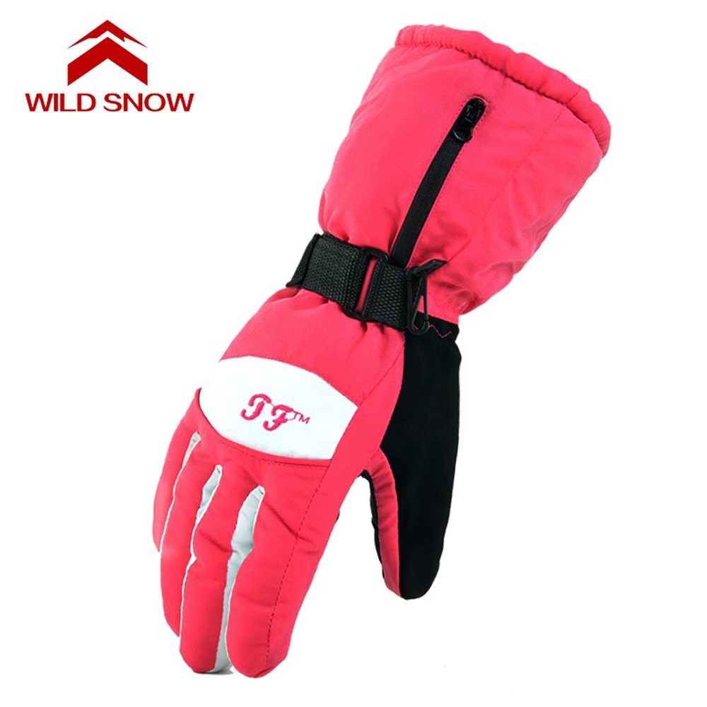 WILD SNOW 2016 ski gloves Snowboard Gloves Snowmobile Motorcycle Winter Skiing Riding Climbing Waterproof Men Snow Gloves PYG609