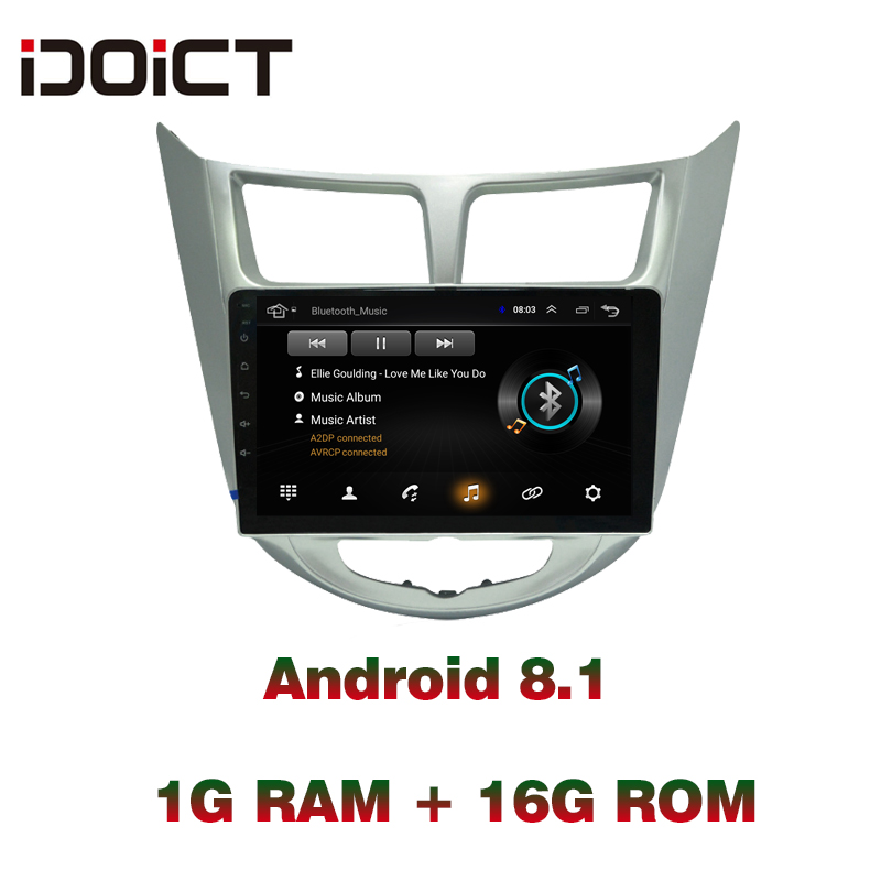 IDOICT Android 8.1 Car DVD Player GPS Navigation Multimedia For Hyundai Accent Verna Solaris Radio 2010-2017 wifi          IDOICT Android 8.1 Car DVD Player GPS Navigation Multimedia For Hyundai Accent Verna Solaris Radio 2010-2017 wifi