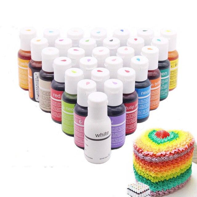 Макарон крем Торт Помадка выпечки ингредиенты 30 Цвет s торт Цвет съедобные Еда Цвет S Инструменты для выпечки