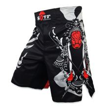 купить Black Mma Shorts Boxing Trunks Muay Thai Tiger Muay Thai Kickboxing Shorts Sanda Yokkao Brock Lesnar Fight Boxing Short Sanda в интернет-магазине