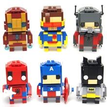 Building Block Avengers Marvel DC SuperHeroes Batman VS Superman Spiderman flash deadpool Minifigures Toys compatible with legoe