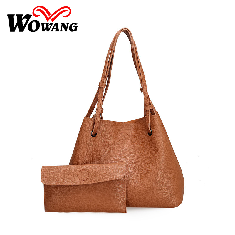 2016 New Women Leather Handbags Fashion Shoulder Bag High Quali Women's Messenger Bags Ladies Crossbody Bag Clutch Wallet 2 Sets cute fashion women bag ladies leather messenger shoulder bags women s handbags