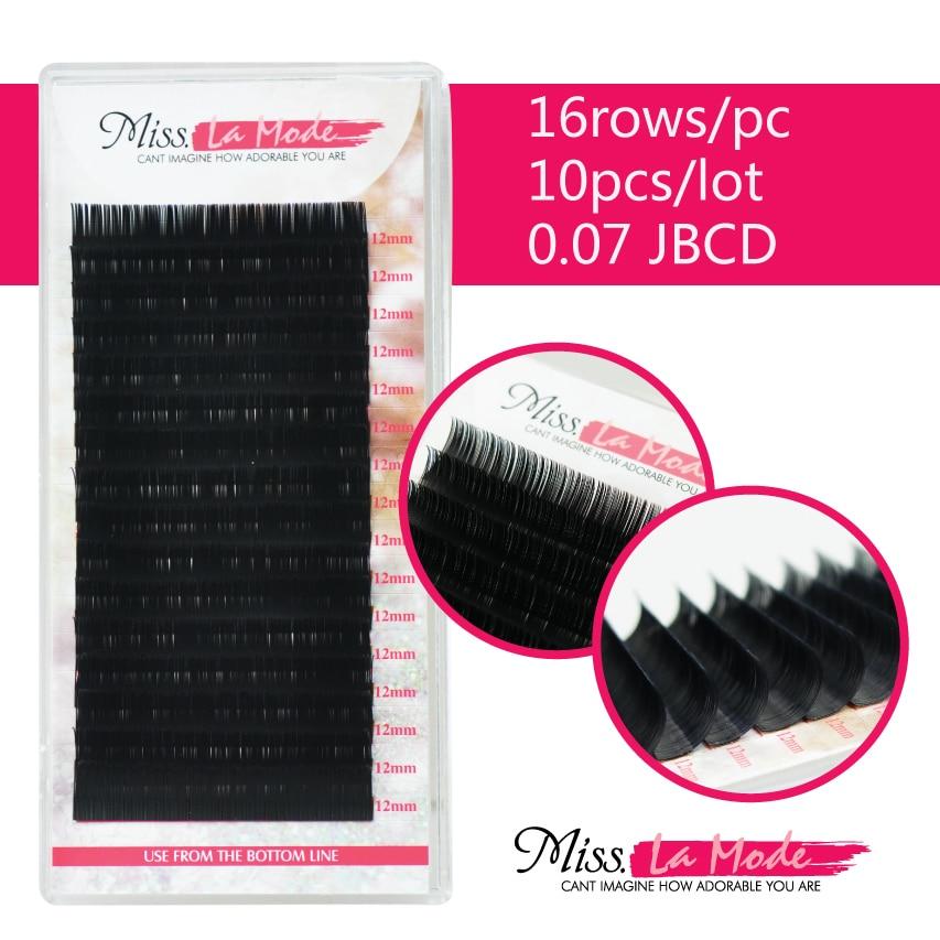 10 ชิ้น/ล็อตคุณภาพสูง JBCD Curl 0.07 มม. หนา Mink แต่ละ Silk False ขนตา Lash-ใน ขนตาปลอม จาก ความงามและสุขภาพ บน   2