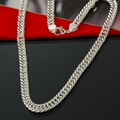 Cool silver plated necklace men jewelry Wholesale fashion  silver necklace  big men chain 10MM 20,22,24inch men necklaces
