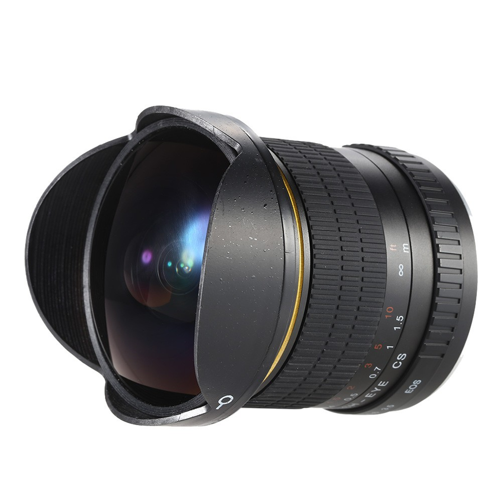 8mm F/3.5 Ultra Wide Angle Fisheye Lens for Canon DSLR Cameras 1500D 10D 800D 760D 750D 700D 750D 600D 80D 70D 60D 77D 7D 1