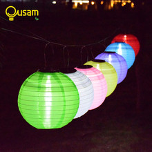 Waterproof outdoor solar lights LED 30CM lantern festival lanterns hanging China celebration lamp