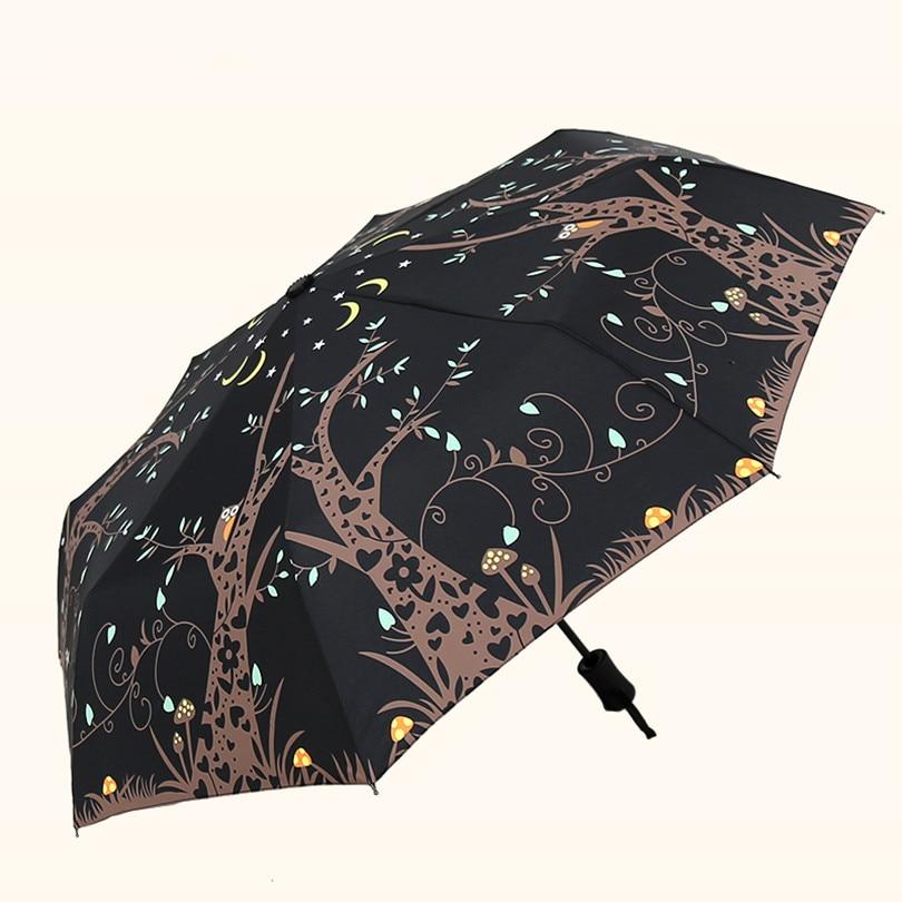 Vollautomatische Regenschirm Regen Sonnig Frauen Männer Drei Folding ...