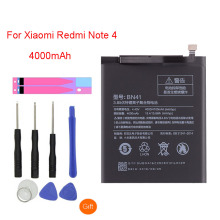 QrxPower Original BN41 Replacement Battery For Xiaomi Redmi Note 4 Real Capacity 4000mAh Li-ion Phone + Tool