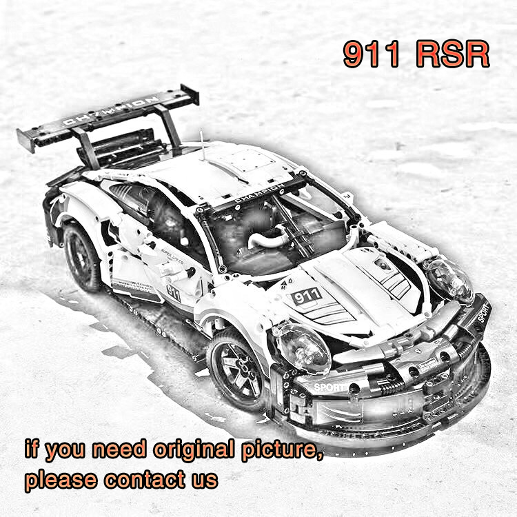 compatible legoinglyes bricks 911 RSR High speed racing sports car Model building blocks kids Educational toys for children giftcompatible legoinglyes bricks 911 RSR High speed racing sports car Model building blocks kids Educational toys for children gift