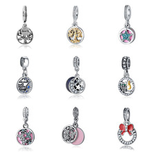 DIY bracelet arbre de vie charms princess bijoux silver perfumes mujer originales necklace charm jewelry beads