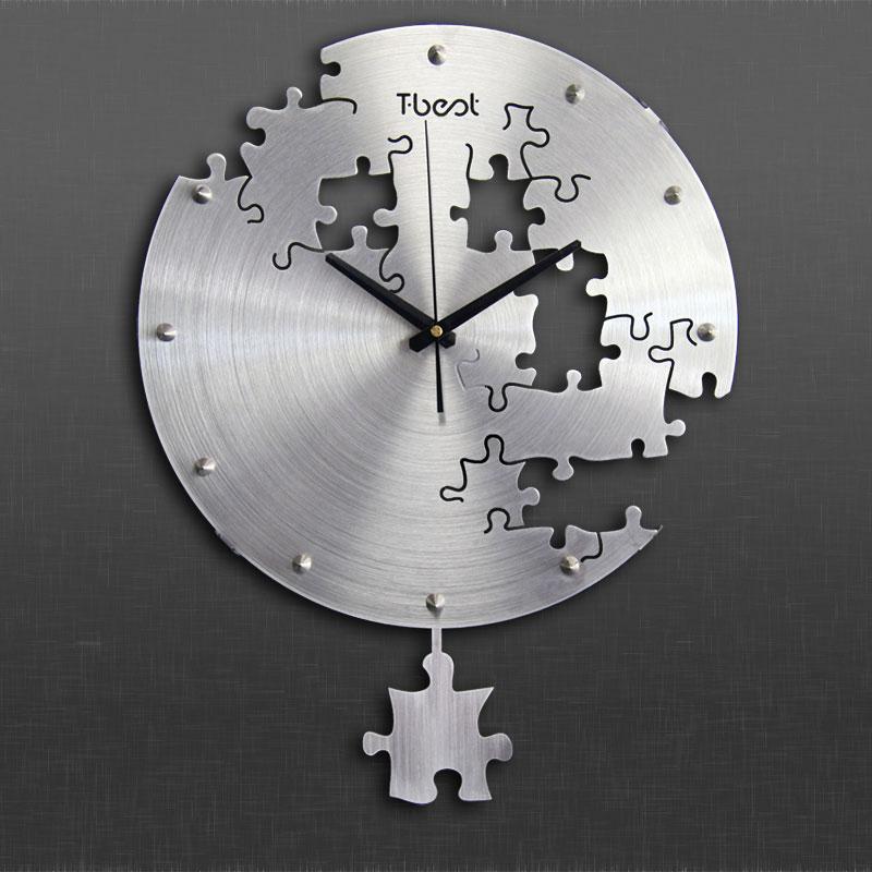 16 pouce Circilar Créatives Horloge Murale Art Horloge Murale Design Moderne Salon Et Chambre Mur Muet Montre La Maison décor