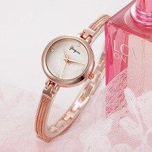 2017 nova moda mulher marca de luxo relógio de quartzo business casual aço inoxidável em ouro rosa diamante relógio de pulseira de prata