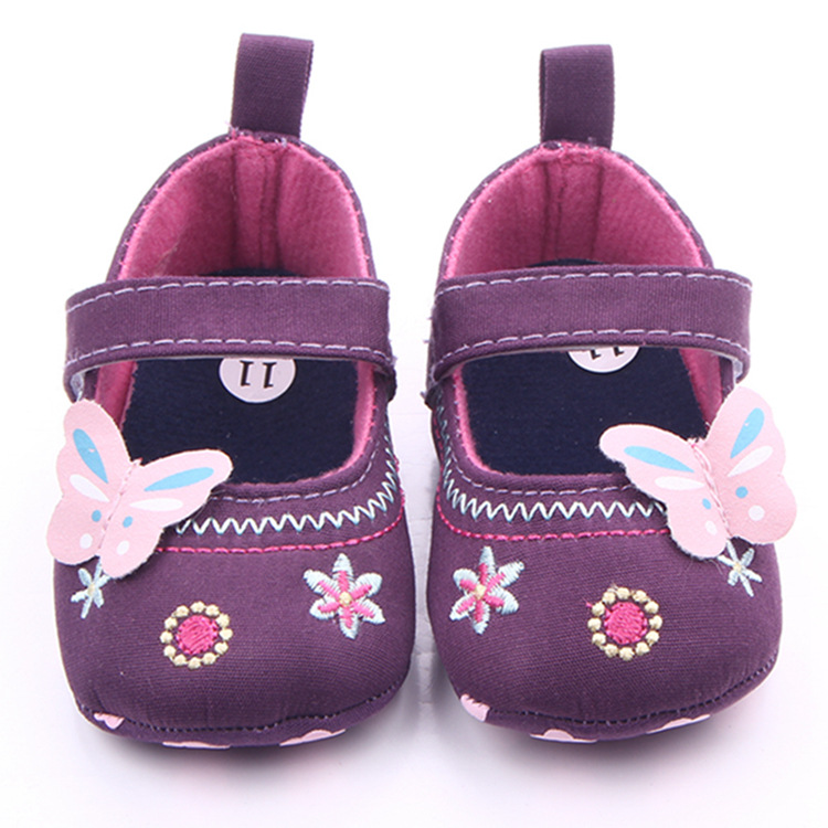 Baby Shoes Girl Boy Bowknot Cololrful Butterfly Boots High Quality Kids Cloth Crib Anti-slip Shoes Embroidered Soft Baby Shoes