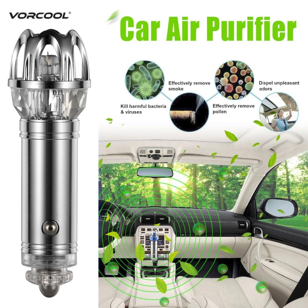 VORCOOOL Auto Luft Reiniger Ionisator Luft Reiniger Auto Ionic Lufterfrischer und Geruch Eliminator Entfernen Zigaretten Rauch Geruch Purifier