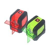 Red/Green Laser Level Bracket Self Leveling Laser Levels IP54 2 Beam Cross Line Leverler Measure Tool Universal Clip Mini Size
