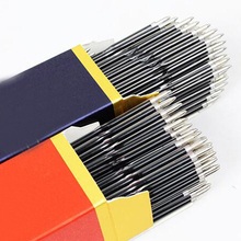 100pcs/lot 0.7mm Ballpoint Pen Refill Suitable for Retractable Black/BlueRed ink High Quality Writing Refills Stationary