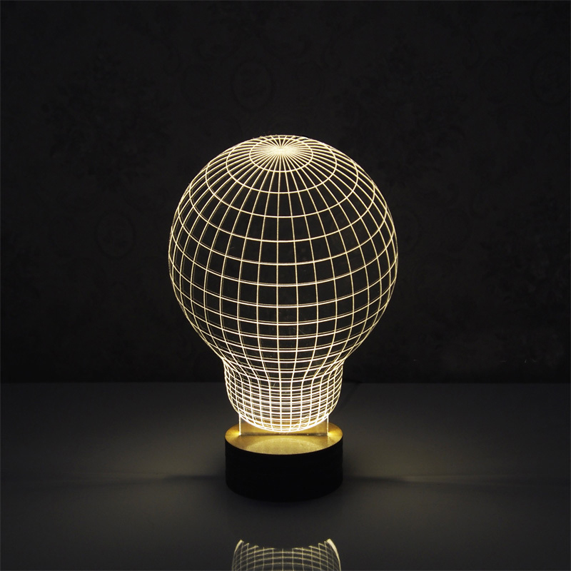 Amazing 3D Optical Illusion LED Table Lamp Lighting Novelty With Wood Base  mood lamp for Gift-in LED Bulbs & Tubes from Lights & Lighting on  Aliexpress.com ... - Amazing 3D Optical Illusion LED Table Lamp Lighting Novelty With