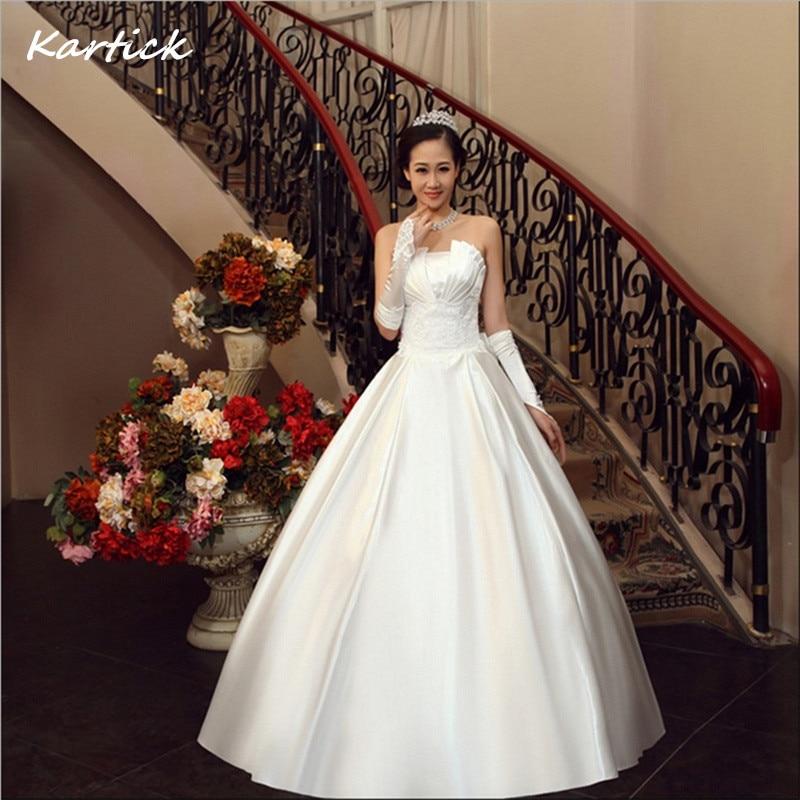 Ivory Ball Gown Wedding Dress: Brand New Satin Wedding Dresses With Bow White/Ivory Ball