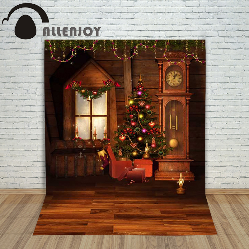 Christmas children's photo background Wooden xmas tree window with clock backdrop photography studio shoots camera holiday брюки dressed in green брюки page 3