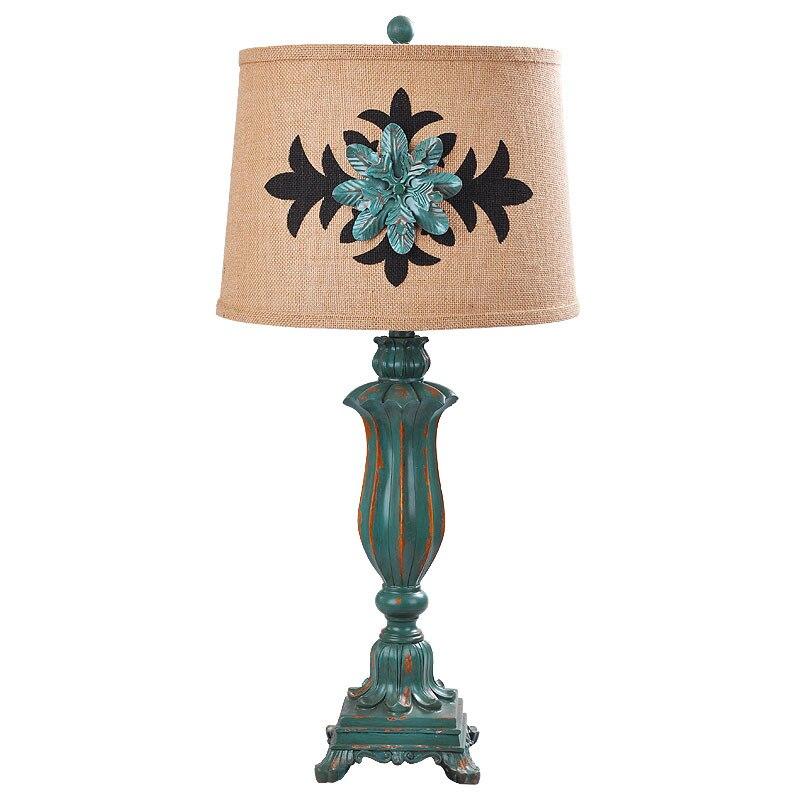 9bf6bbb0e Casa de la vendimia País de Tela de Resina Led E27 Lámpara de Mesa De  Estudio Salón Deco H 72 cm Ac 80-265 v 1776